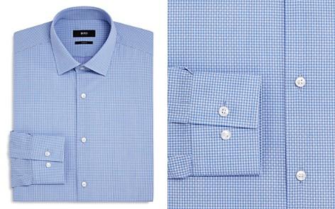 BOSS Micro Check Dot Slim Fit Dress Shirt - Bloomingdale's_2