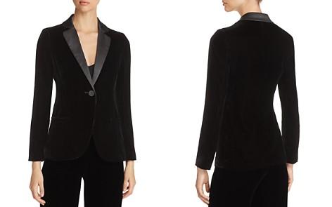 Emporio Armani Contrast-Collar Velvet Blazer - Bloomingdale's_2