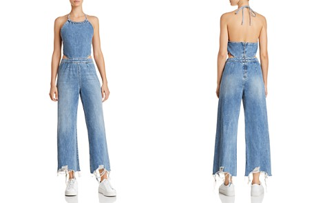 DL1961 Liv Denim Halter Jumpsuit - Bloomingdale's_2