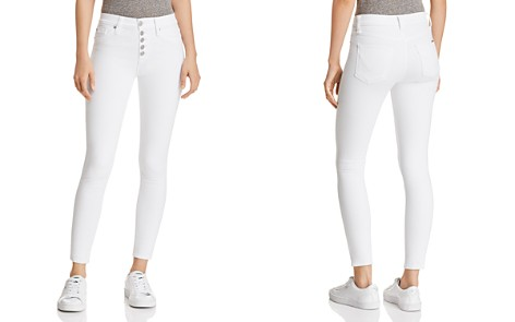Hudson High Rise Ankle Skinny Jeans in Optic - Bloomingdale's_2