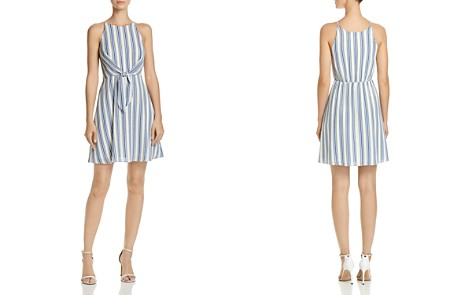 AQUA Tie-Front Striped Dress - 100% Exclusive - Bloomingdale's_2