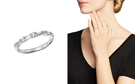 Bloomingdale's Diamond Baguette & Round Band in 14K White Gold, 0.50 ct. t.w. - 100% Exclusive _2