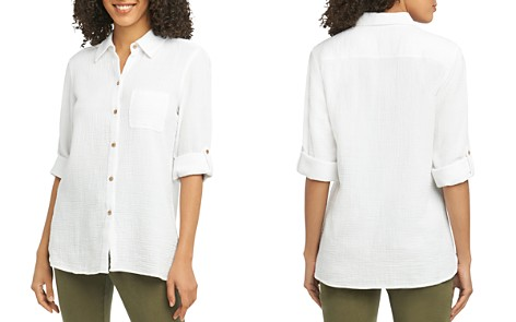 Foxcroft Tamara Cotton-Gauze Shirt - Bloomingdale's_2