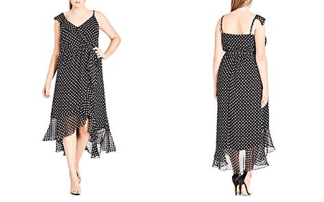 4ff8c2952c7 City Chic Plus Dot-Print Ruffled Midi Dress - Bloomingdale s 2