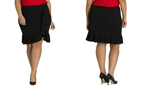 City Chic Plus Faux-Wrap Ruffle Skirt - Bloomingdale's_2