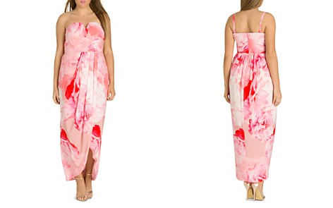 City Chic Plus Girly Rose Strapless Maxi Dress - Bloomingdale's_2