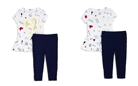 kate spade new york Girls' Doodle-Print Top & Ruffled Leggings Set - Little Kid - Bloomingdale's_2