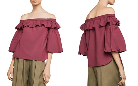 BCBGMAXAZRIA Off-the-Shoulder Shirred Top - Bloomingdale's_2