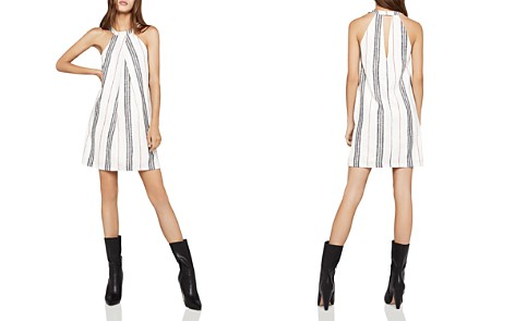 BCBGeneration Sleeveless Pleat-Front Stripe A-Line Dress - Bloomingdale's_2