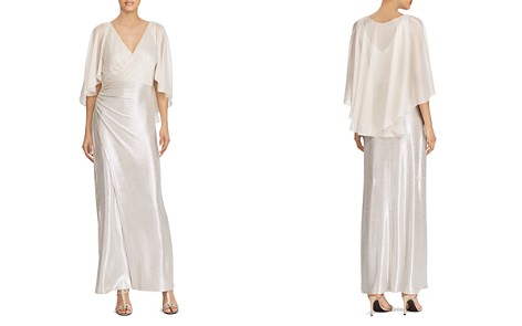 Lauren Ralph Lauren Metallic Faux-Wrap Gown - Bloomingdale's_2