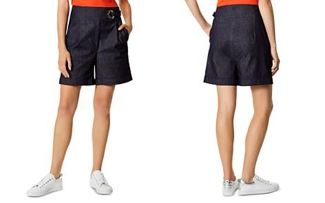 KAREN MILLEN High-Rise Denim Bermuda Shorts in Dark Denim - Bloomingdale's_2