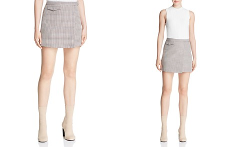 Theory Plaid Mini Skirt - Bloomingdale's_2