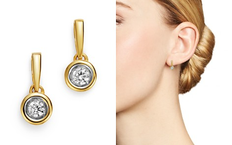 Bloomingdale's Diamond Bezel Set Drop Earrings in 14K Yellow Gold, 0.20 ct. t.w. - 100% Exclusive_2