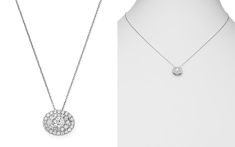 Bloomingdale's Diamond Oval Halo Pendant Necklace in 14K White Gold, 0.50 ct. t.w. - 100% Exclusive_2