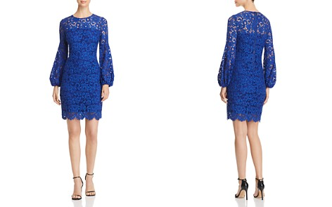 Elie Tahari Shayla Balloon Sleeve Lace Dress - Bloomingdale's_2