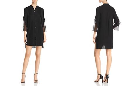 Elie Tahari Sawyer Pleated Silk Shirt Dress - Bloomingdale's_2