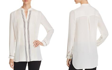 Elie Tahari Sydney Pleated Silk Tunic - Bloomingdale's_2
