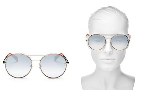 rag & bone Women's Brow Bar Round Sunglasses, 59mm - Bloomingdale's_2