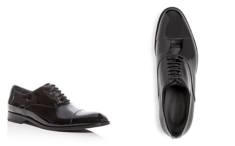 Armani Men's Patent Leather Cap Toe Oxfords - Bloomingdale's_2