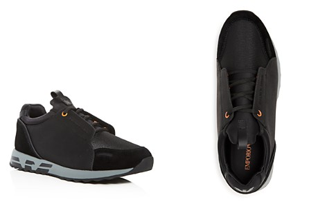Armani Men's Leather & Suede Lace Up Sneakers - Bloomingdale's_2