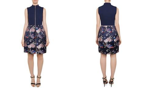 Ted Baker Bobyd Zip-Front Jacquard Dress - Bloomingdale's_2