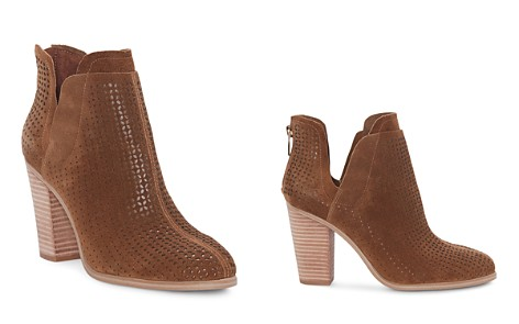 VINCE CAMUTO Women's Farrier Almond Toe Perforated Suede Booties - Bloomingdale's_2