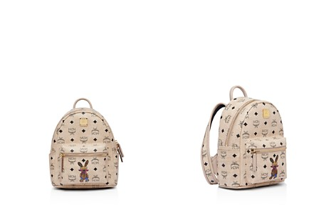 MCM Rabbit Logo Print Mini Backpack - Bloomingdale's_2