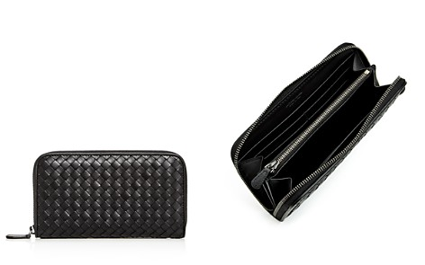 Bottega Veneta Woven Leather Zip Wallet - Bloomingdale's_2
