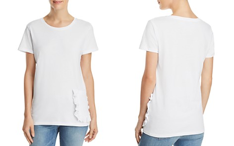 FRENCH CONNECTION Ruffled-Pocket Tee - Bloomingdale's_2