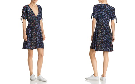 FRENCH CONNECTION Aubine Floral-Print Tie-Sleeve Dress - Bloomingdale's_2
