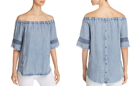 Billy T Off-the-Shoulder Chambray Top - Bloomingdale's_2