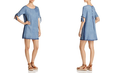 Billy T Tie-Sleeve Chambray Dress - Bloomingdale's_2
