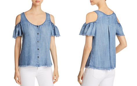 Billy T Cold-Shoulder Chambray Top - Bloomingdale's_2