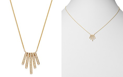 Moon & Meadow Diamond Five Bar Necklace in 14K Yellow Gold, 0.18 ct. t.w. - 100% Exclusive - Bloomingdale's_2