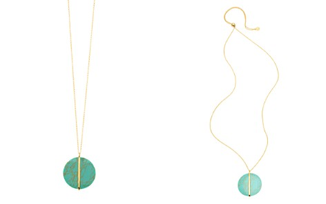 "Gorjana Brinn Turquoise Disc Pendant Necklace, 36"" - Bloomingdale's_2"