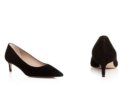 Stuart Weitzman Women's Leigh Suede Kitten-Heel Pumps - Bloomingdale's_2