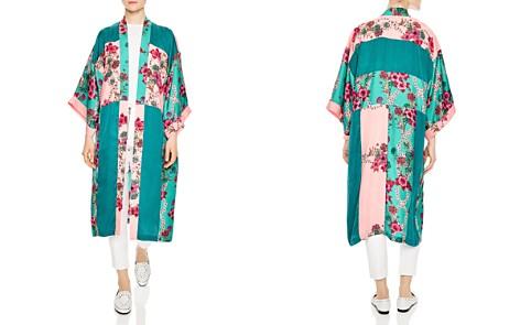 Sandro Ting Printed Color Blocked Kimono Jacket - Bloomingdale's_2