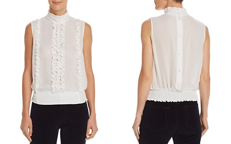 FRAME Ruffled Button-Back Top - Bloomingdale's_2