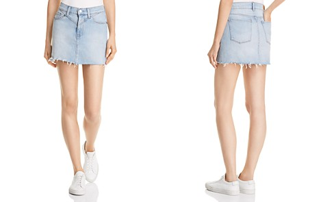 Hudson Stitched-Yoke Denim Skirt in Dakota - Bloomingdale's_2