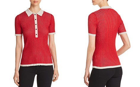 Burberry Yellowstone Ribbed Short-Sleeve Sweater - Bloomingdale's_2