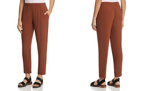 Eileen Fisher Slouchy Silk Ankle Pants - Bloomingdale's_2