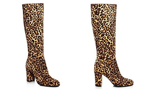 Kenneth Cole Women's Justin Round-Toe Leopard Print Calf Hair High-Heel Boots - Bloomingdale's_2