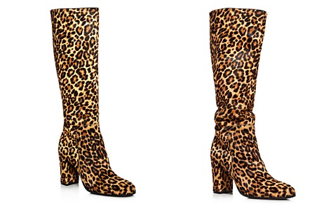 Kenneth Cole Women's Justin Round Toe Leopard Print Calf Hair High-Heel Boots - Bloomingdale's_2