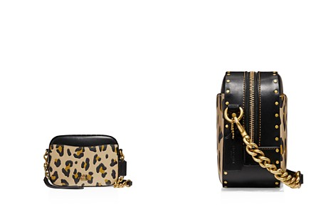 COACH Leopard Print Leather Block Rivet Camera Bag - Bloomingdale's_2