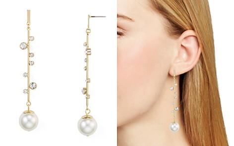 RJ Graziano Linear Simulated-Pearl Drop Earrings - Bloomingdale's_2