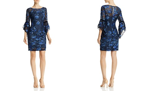 Aidan Mattox Bell-Sleeve Lace Dress - Bloomingdale's_2