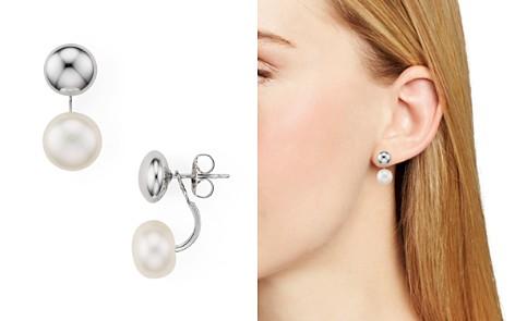 Bloomingdale's Cultured Freshwater Pearl Drop Earrings - 100% Exclusive_2