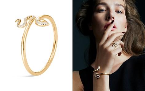 John Hardy 18K Yellow Gold Legends Cobra Diamond Pavé Flex Cuff - 100% Exclusive - Bloomingdale's_2