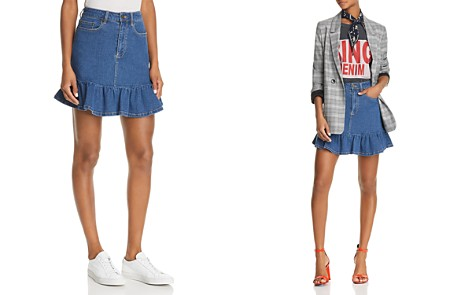 The Fifth Label Frequency Ruffled Denim Mini Skirt - Bloomingdale's_2