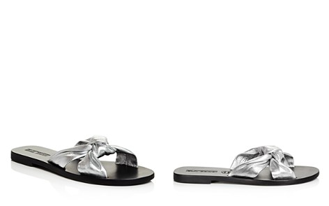 Sol Sana Women's Paradise Metallic Leather Slide Sandals - Bloomingdale's_2